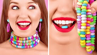 HOW TO SNEAK CANDIES ANYWHERE YOU GO || Cool Sneak Candy Hacks And Tricks