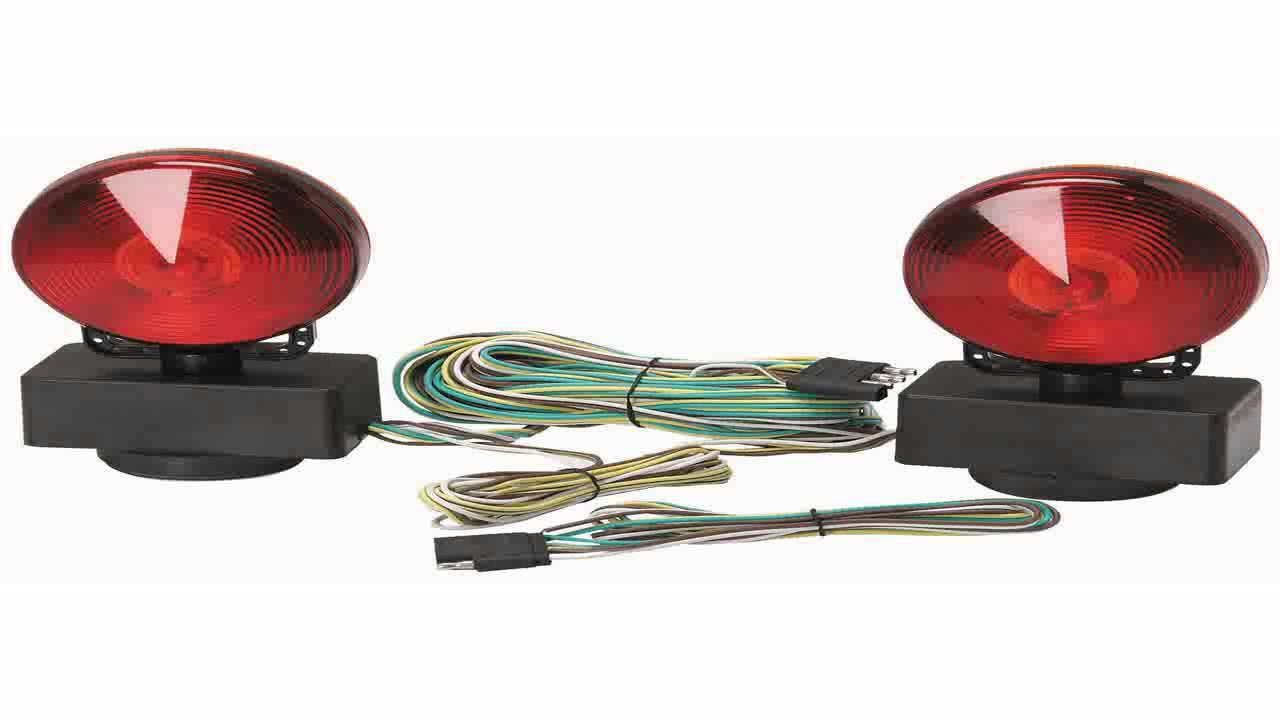 small resolution of magnetic led trailer towing light kit magnet mount tow tailbrake lights 12v youtube