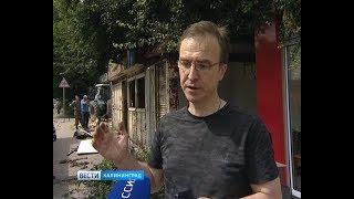 В Калининграде сносят торговые палатки с истекшим сроком аренды на землю