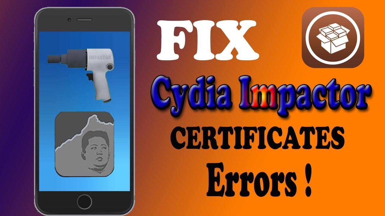 How To Fix Cydia Impactor Certificates ERRORS !! 🤔