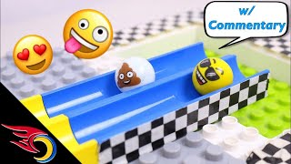 The Great Emoji Marble Race #2 w/ Commentary | Toy Racing