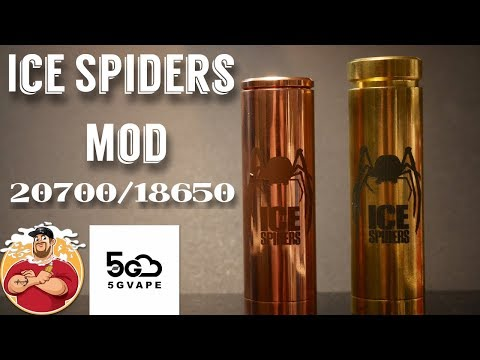 Ice Spiders 20700/18650 Mech Mod by 5GVape Review & Voltage Test