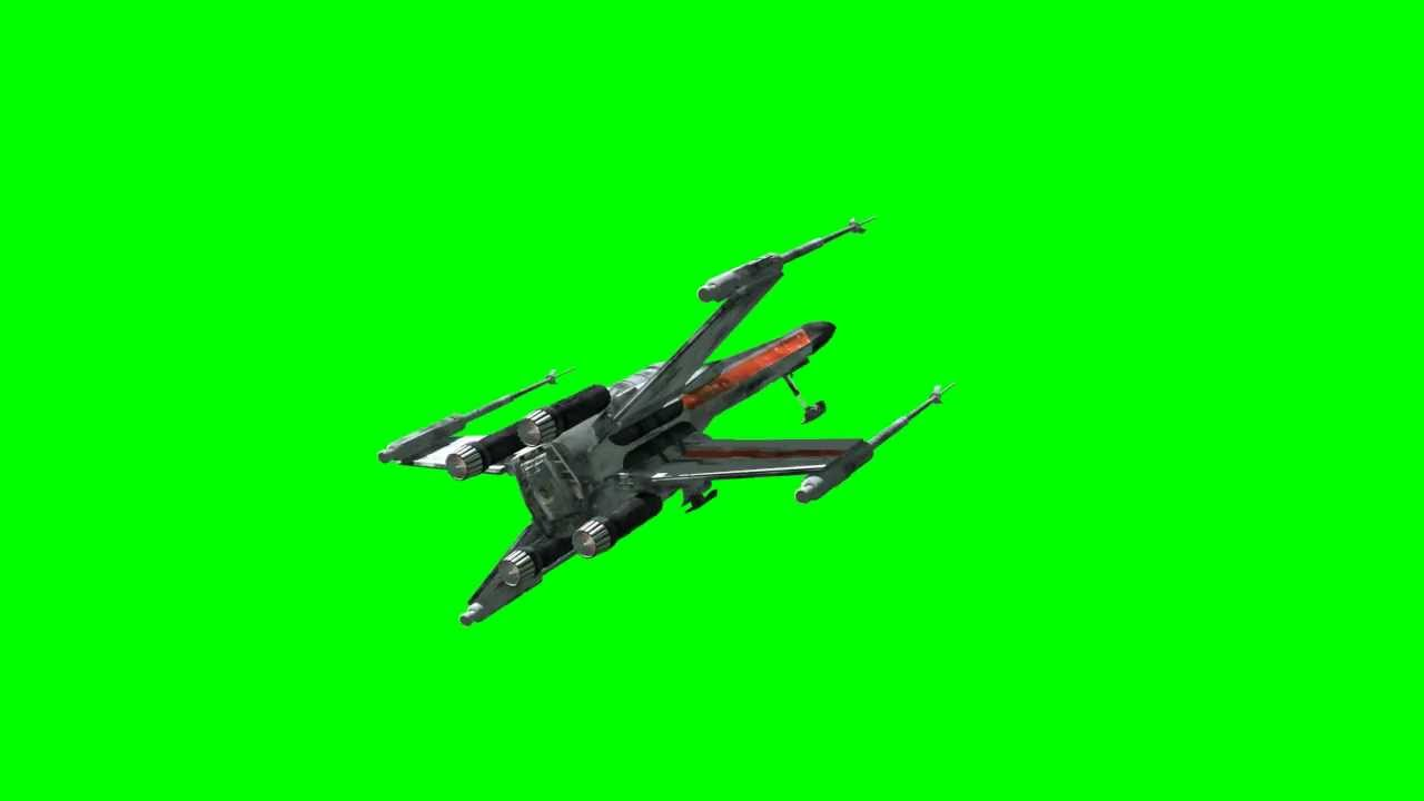 Star Wars Xwing Fighter Spaceship On Green Screen New