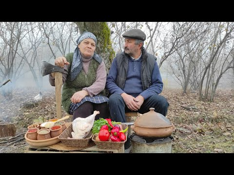 Kənd Çolpasından Toyuq Sousu, Outdoor Cooking Channel, Country Life Vlog