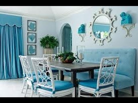 Aprende a decorar con el color azul y blanco youtube for Habitacion blanca y turquesa