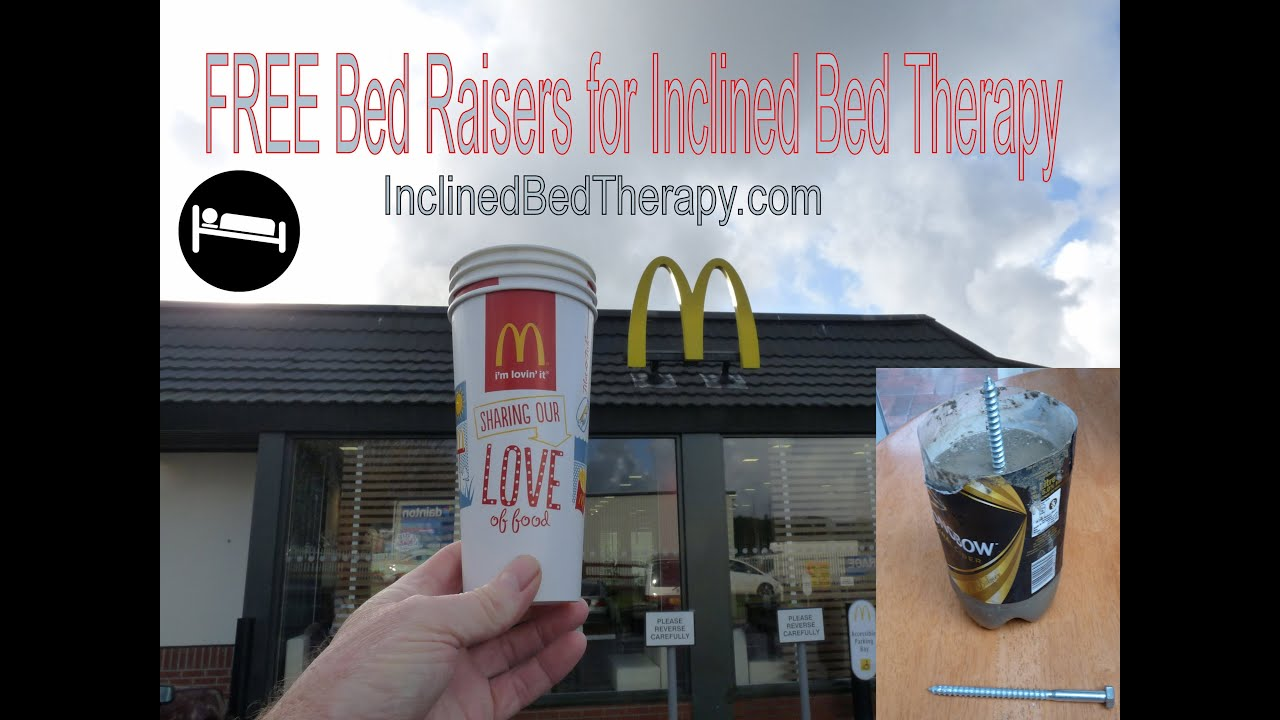 Make your own bed risers - Bed Raisers Cement Filled Recycled Plastic Bottles Inclined Bed Therapy Ibt Science Of Healing Sleep Youtube