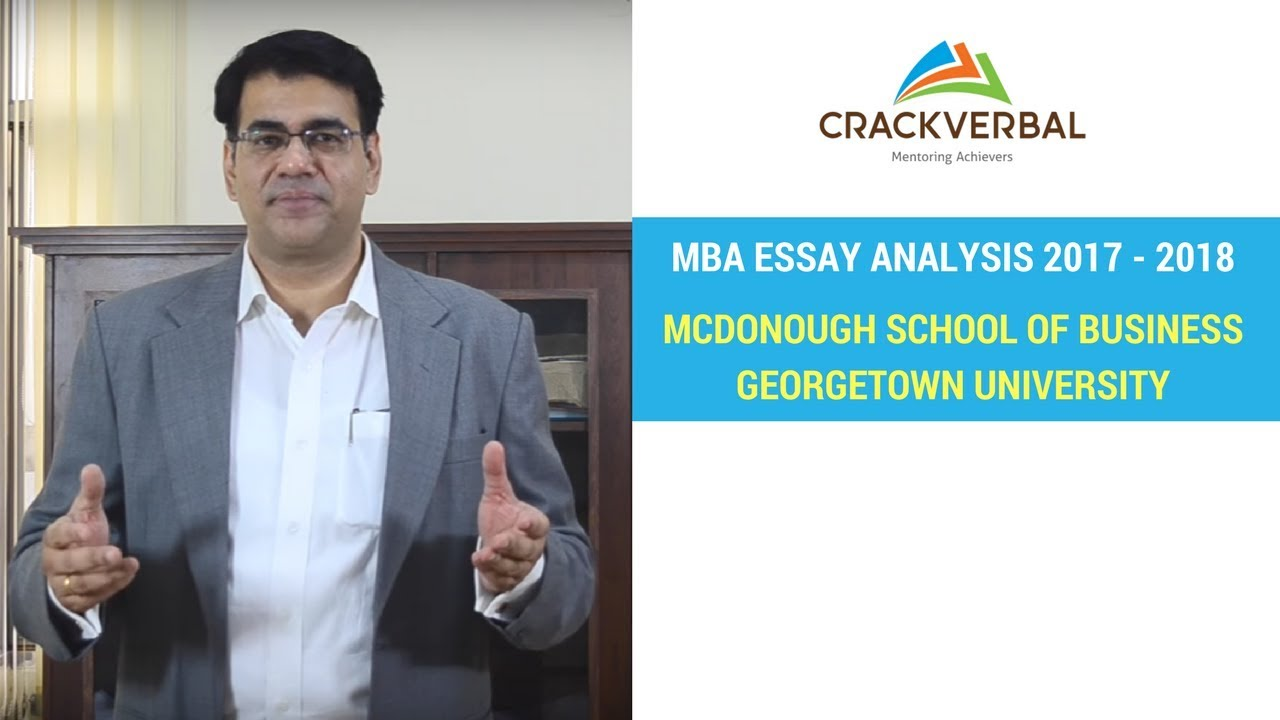 mcdonough school of business georgetown university essay analysis  mcdonough school of business georgetown university essay analysis 2017 2018