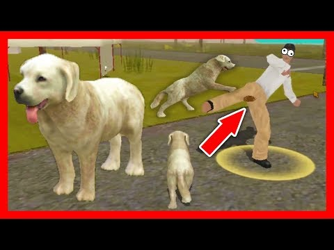 СИМУЛЯТОР СОБАКИ #1 ОХОТИЛИСЬ ЛЮДИ приключение ЩЕНКА в Dog Sim