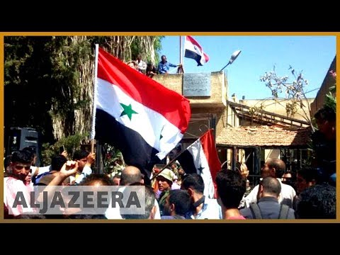 🇸🇾 Syria's Deraa: Regime raises flag in cradle of protest movement | Al Jazeera English