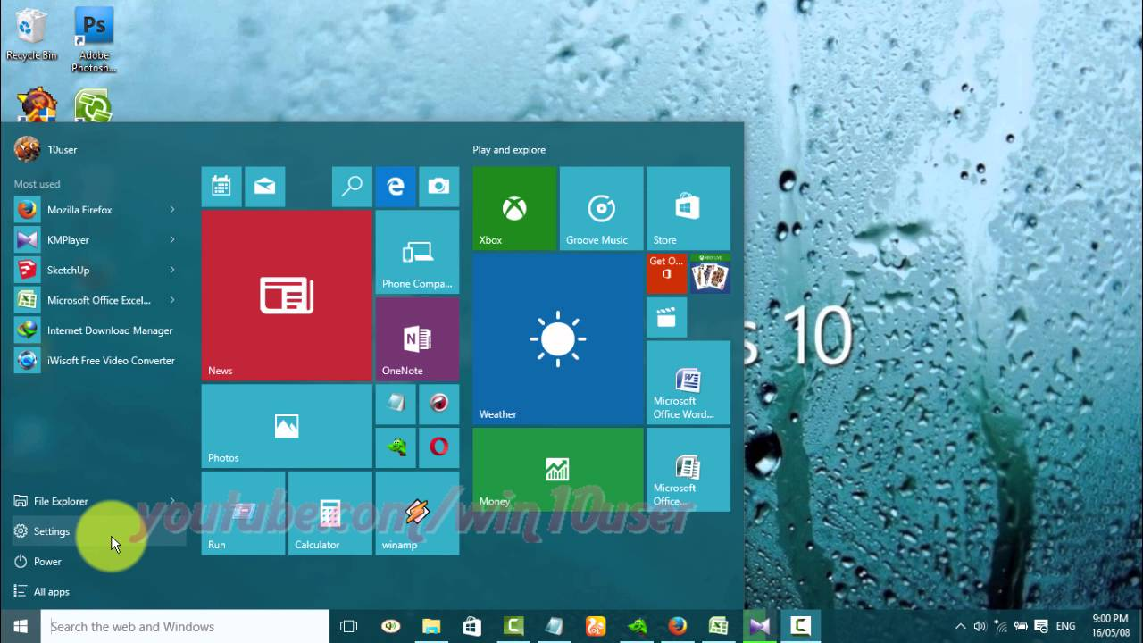 Windows 10 : How to Turn on or turn off Alarm Clock run in Background