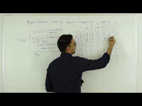 Regular Expression Dynamic Programming