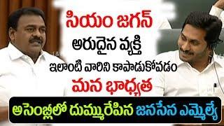 సియం జగన్ గురించి దుమ్మురేపే స్పీచ్ ఇచ్చిన జనసేన ఎమ్మెల్యే.. || Rapaka Varaprasad || iMedia