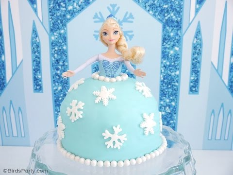 Elsa Doll Frozen Birthday Cake BirdsPartyTricks YouTube