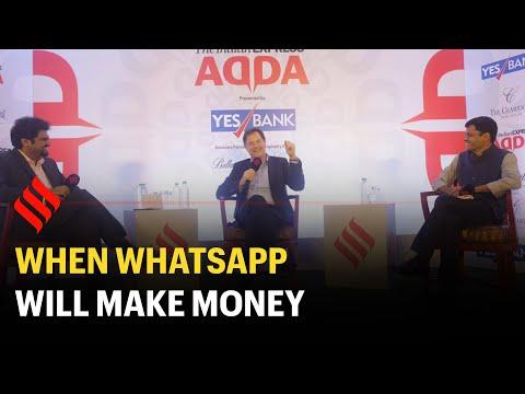 Nick Clegg on when WhatsApp will make money