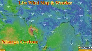 Live Stream, Wind & Weather Map Forcasting, Nisarga Cyclone
