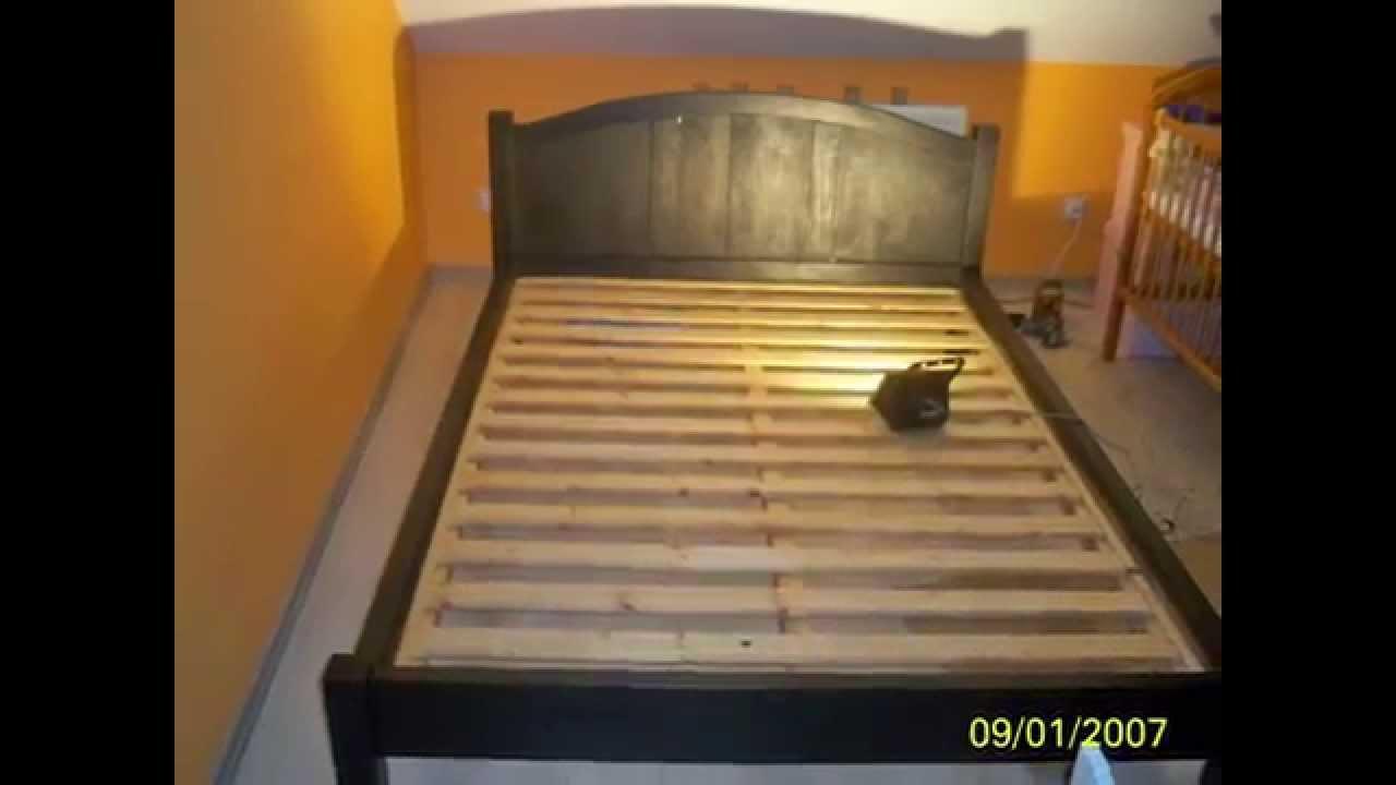 łóżko Drewniane Dębowe Do Sypialni Nie Z Palet Własny Projekt I Wykonanie
