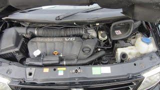 Работа двигателя Mercedes Benz Vito W638 с двс 104.900 V6