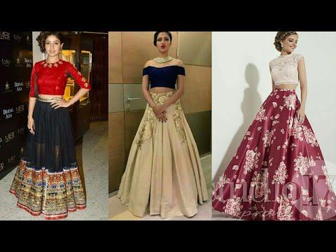 latest-crop-top-and-skirt-indian-design-|-beautiful-crop-top-lehanga-|-evening-dresses