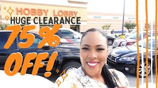 Hobby Lobby 75% Off HUGE Clearance Sale! Decor Furniture Rugs Mirrors Pillows Art & More!