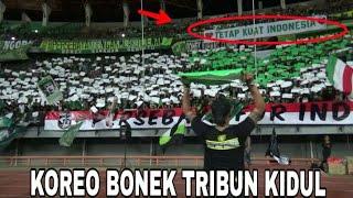 Respect..!! Bonek bikin koreo Tetap Kuat Indonesia di Tribun Kidul GBT Sby | Persebaya vs Borneo FC