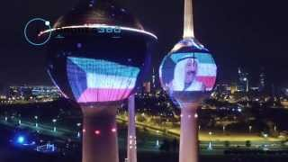 Kuwait Towers Light Show Feb 2015