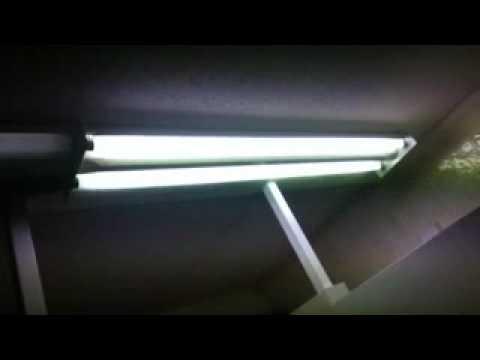 Bathroom Lights Flicker florescent light flickering - youtube