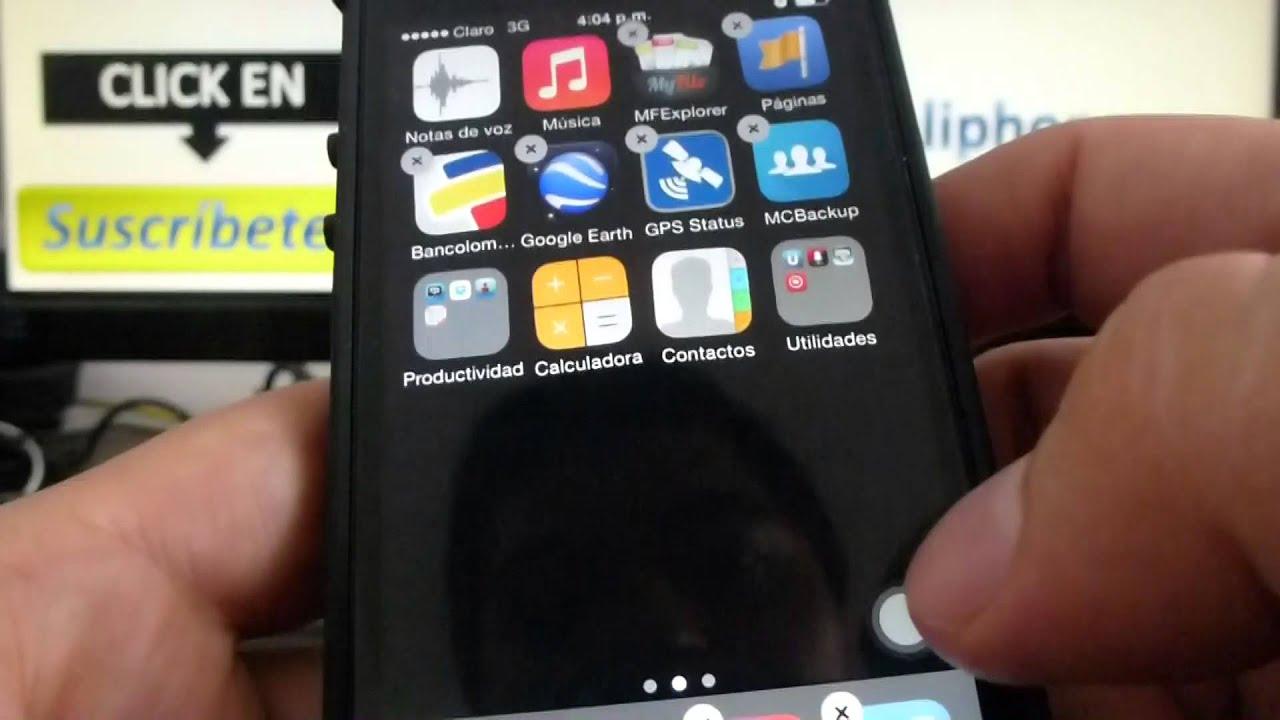 como organizar las aplicaciones de mi iphone 5s 5c 5 4 ios. Black Bedroom Furniture Sets. Home Design Ideas