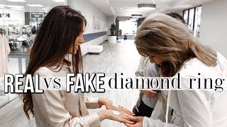 Testing My REAL vs FAKE Diamond Ring on Strangers! YouTube Videos