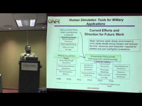 Human Simulation in the Military Panel: Lance Harris (Office of Naval Research)