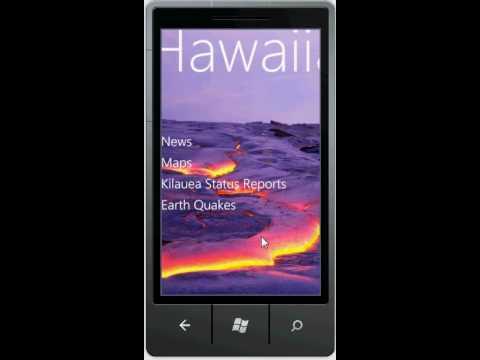 Windows Phone Hawaiian Volcano Observatory Application