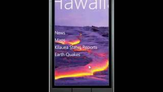 Windows Phone Hawaiian Volcano Observatory Application