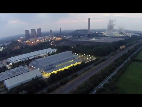 didcot-power-station-cooling-tower-going-down:-drone