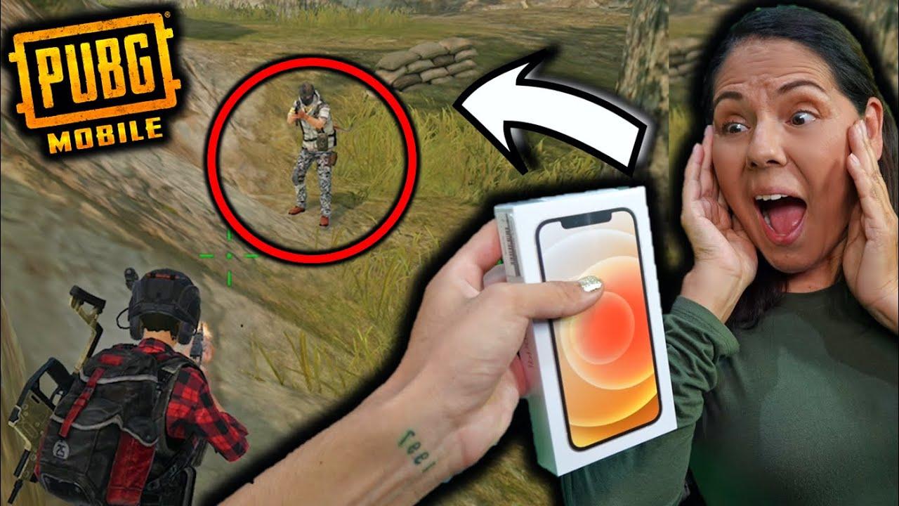 ¡LE DOY EL iPhone 12 a mi MAMÁ si hace una Kill en PUBG MOBILE! - [ANTRAX] ☣