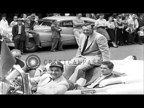 US President Harry S Truman throws out the first ball during the opening day for ...HD Stock Footage