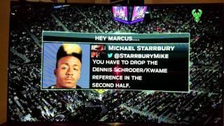 Marques Johnson talking Starrbury/Legends