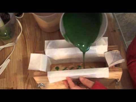 Making Green Tea and Aloe Vera Soap