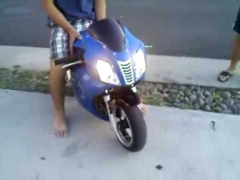 X22 fighter 110cc super pocket bike youtube x22 fighter 110cc super pocket bike sciox Images