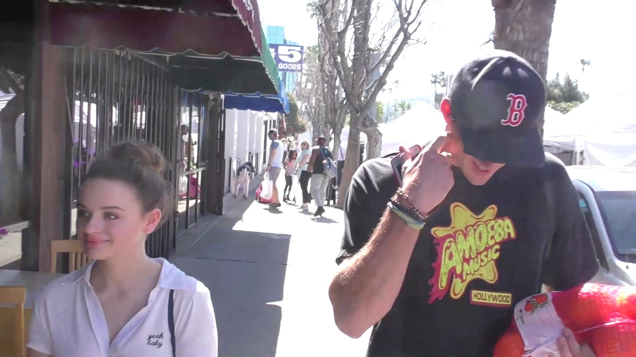 Joey King and Jacon Elord at the Farmers Market in Studio City