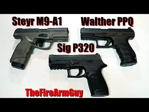 Walther PPQ vs Sig P320 vs Steyr M9 - Viewers Decided - TheFireArmGuy