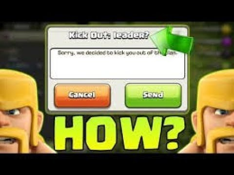 how to kick out leader in coc 100% proof in hindi