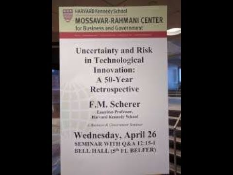 Scherer presents Uncertainty & Risk in Technological Innovation Harvard Kennedy School Government