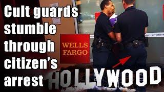 Scientology guards stumble thru citizens arrest til outside world arrives