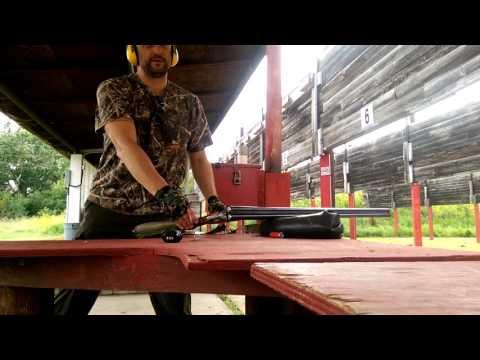 Shooting German (DDR) Suhl Side by side shotgun