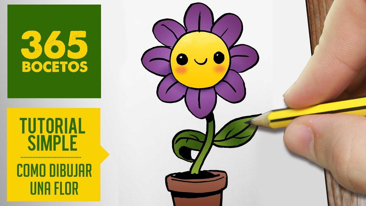 Como Dibujar Una Flor Kawaii Paso A Paso Dibujos Kawaii Faciles