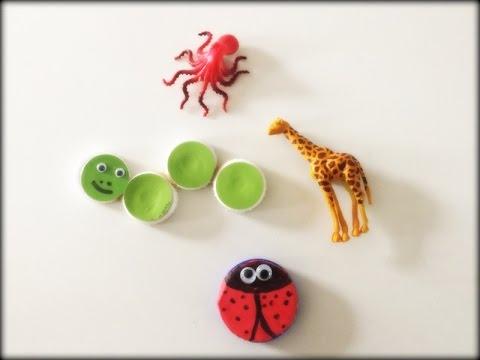 DIY Fridge magnet/Recycle bottle cap/small toys/Easy kids ...