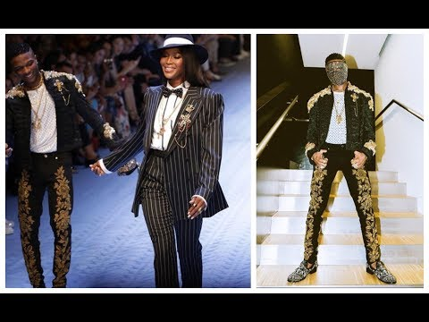 Wizkid Walks The Runway For Dolce And Gabbana In Milan spotted with Naomi Campbell and Tinie Tempah
