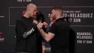 UFC Phoenix: James Vick vs. Paul Felder Media Day Staredown - MMA Fighting
