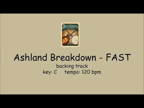 Ashland Breakdown - bluegrass backing track FAST