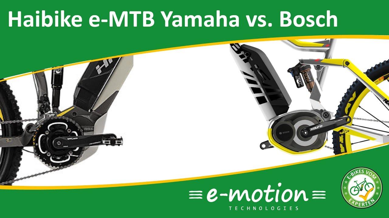 Haibike E Mtb Yamaha Vs Bosch Testfahrt Im Wald