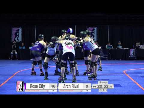 2017 International WFTDA Championships Game 8: Rose City Rollers vs  Arch Rival Roller Derby